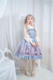 Imprisoned~Net yarn Elegant High waist Lolita slip dress/Jumper skirt
