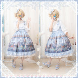 Swan girl~ Elegant High waist Lolita Jumper skirt