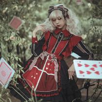 Classical puppets*Dark Alice*mid-sleeves lolita op dress version 9
