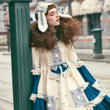 The waffle rabbit~Long Sleeves Classical Lolita Dress