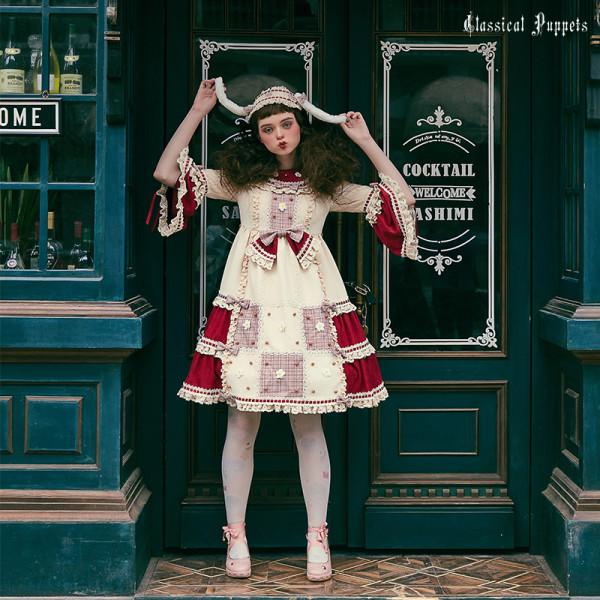 The waffle rabbit~Long Sleeves Classical Lolita Dress