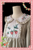 Strawberry flowers~Classical Long Sleeves Lolita OP Dress