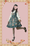 Gardenia blossoms graduation season~Printing Lolita Jumper Skirt