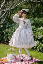 Dorothy's journey~Long sleeves Classical Lolita OP Dress