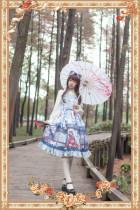 Taketori monogatari~Printing Lolita Jumper Skirt
