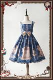 Heaven's bell~Printing Lolita Jumper Skirt