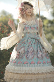 Flower elves~Printing Daily Sweet Lolita JSK Dress