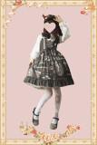 Gardenia blossoms graduation season~Printing Lolita Jumper Skirt