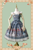 Thread doll~Printing Lolita Jumper Skirt