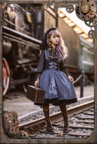 Magic circle~Embroidery Steampunk Jumper Skirt