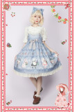 Infanta*Berry cat series*High waist Sweet Lolita Jsk Dress