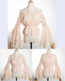 2018 Summer Lace Lolita Blouse With Hime sleeve