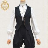 News Vintage Ouji/ Black Vest+Pants