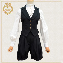 News Vintage Ouji/ Black Vest+Pants