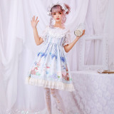 Printing Sweet Lolita Jumper skirt