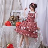 Maiden's room~Printing Sweet Lolita Jumper Skirt