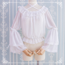 S/S Sweet Chiffon Lolita Hime Sleeve Shirt