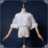 S/S Sweet Chiffon Lolita Trumpet Sleeve Shirt