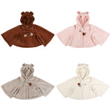 Detective bear~A/W Female wool velvet small pure and fresh and lovely bear short coat
