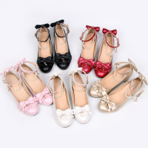 Star song~Lolita bow-tied princess student girl shoes