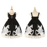 Pegasus~Print Sweet Lolita JSK Dress High Waist  Version Ⅱ