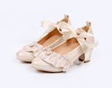 Night Pearl~Lolita bow-tied princess student girl shoes