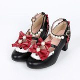 Snow white~Lolita bow-tied princess student girl shoes Versin Ⅰ