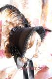 Surface Spell~ Gothic Lolita Pure Color Dark Grain Half Bonnet