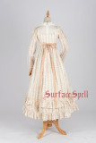 Surface spell~ Josephine~ high-waisted chiffon dress