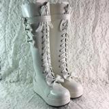 Sweet Bow Muffin Platform Princess Boots