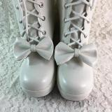 Sweet Bow Muffin Platform Princess Boots