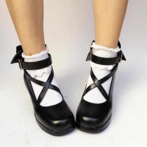 Big Bow Lolita shoes Student Shoes