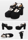 【 Angelic imprint】Lolita Thick heel and High Heel Shoes
