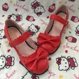 Sweet Princess Lolita Heart Lace  Shoe