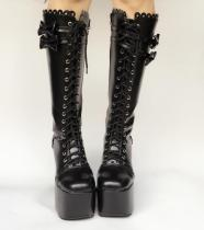 Classic Horseshoe Heel High Princess Lolita Boot