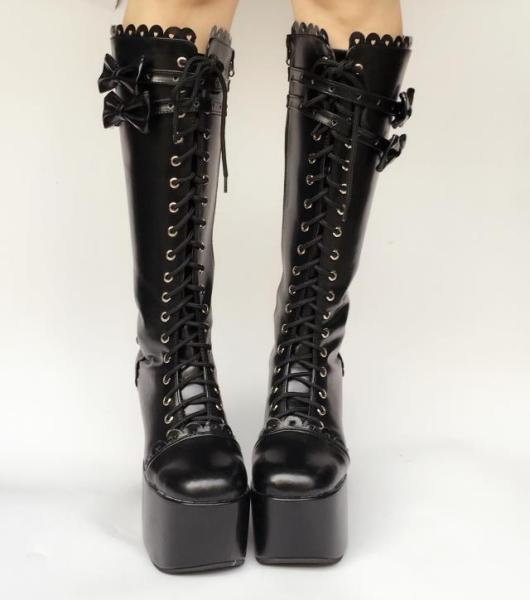 Classic Horseshoe Heel High Princess Lolita Boot