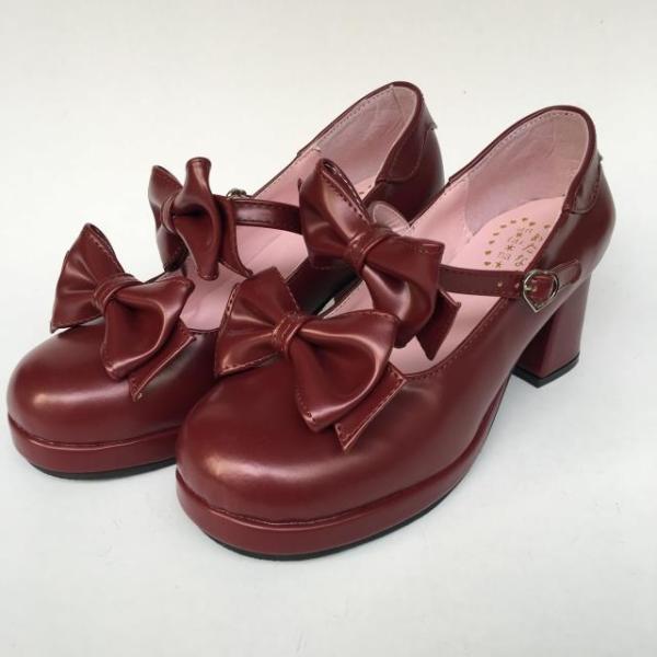 Two bows Sweet Princess Lolita  Shoes