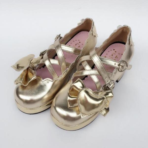 Heart & Bow Sweet Princess Lolita Shoe