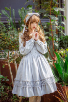 Suya~Elegant Sweet Girl Long Sleeve Lolita OP Dress