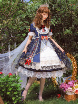 Snow White-Sweet Lolita Short Sleeve OP Dress for Summer
