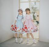 Golden flowers~Lace Doll Collar Short Sleeve Lolita Blouse