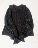 Sleeping stars~Lace Lovely Girl Long Sleeve Lolita Blouse