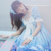 Dolphin star love~Sweet Lolita OP Dress