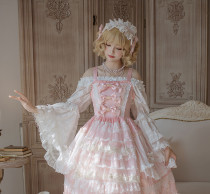 Fallen leaves courtyard~Gorgeous Lace Hime Sleeve Lolita Blouse