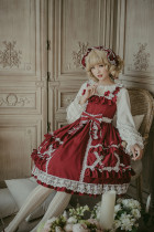 Cream crispy~Cute Doll High Waist Lolita JSK Dress