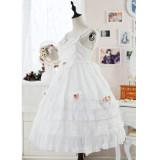 The flower of love~Elegant Gorgeous White Lolita JSK Dress