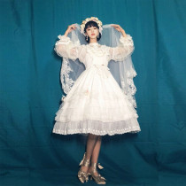 The flower of love~Elegant Gorgeous White Lolita JSK Dress