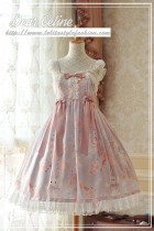 Sakura rabbit~High Waist Lolita JSK Dress  Version Ⅱ
