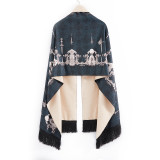 A/W Oversize Cashmere Perfume bottles Print Classic Vintage Elegant Lolita Scarf / Shawl