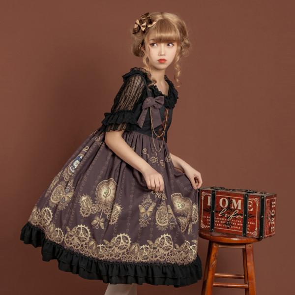 Time gear~Steampunk Lolita JSK Dress